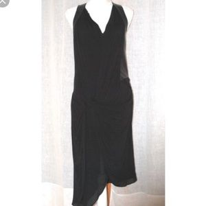 Helmut Lang Draped Dress NWT $415 Myth White Sz 2